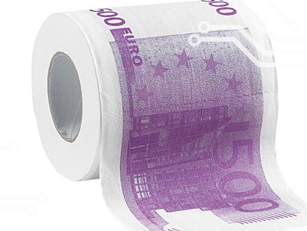 Papier toilette en faux billet de 500 euros €