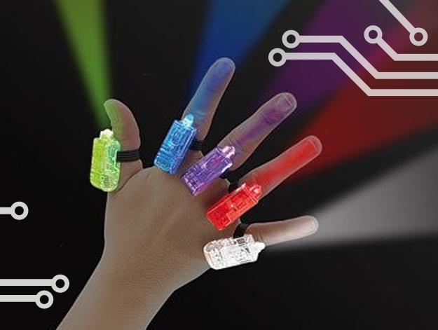 comment faire un éclairage disco pour quelques euros et cinq doigts - avec des bagues mumineuses
