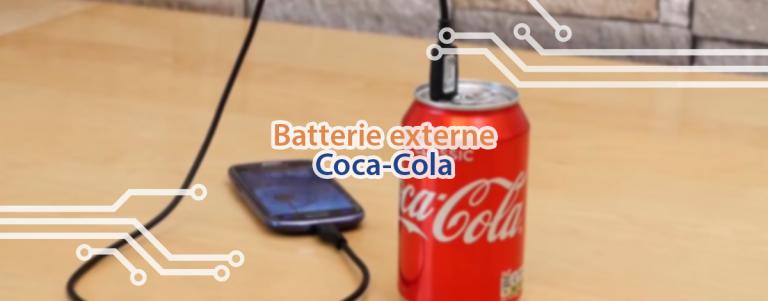 Tutoriel pour fabriquer une batterie externe à partir d'une canette de Coca.