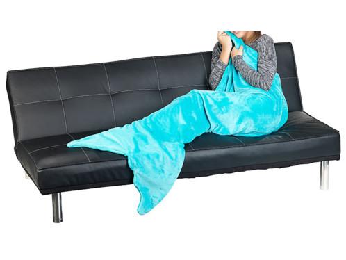 Une couverture sirène pour des soirées canapé féériques