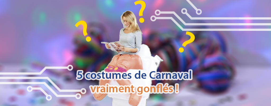 5 costumes gonflables