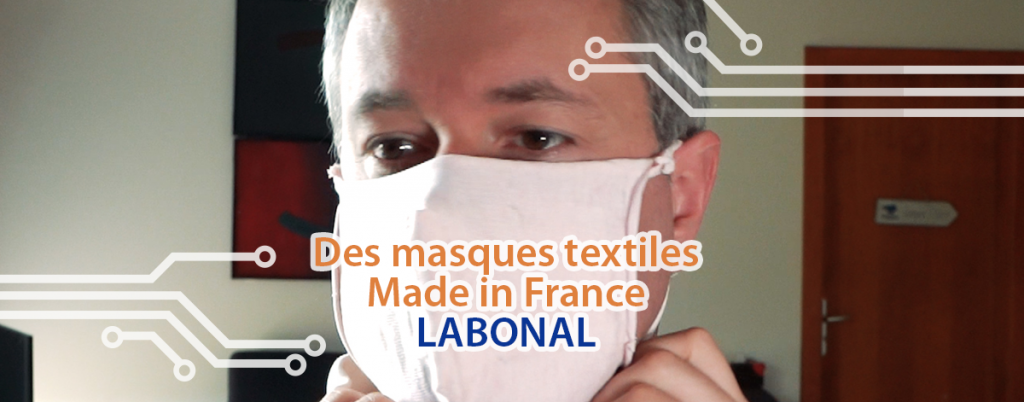 Cover masque français en vente covid 19 LABONAL