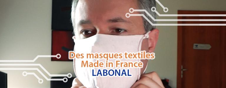 Covid 19 masque français textil