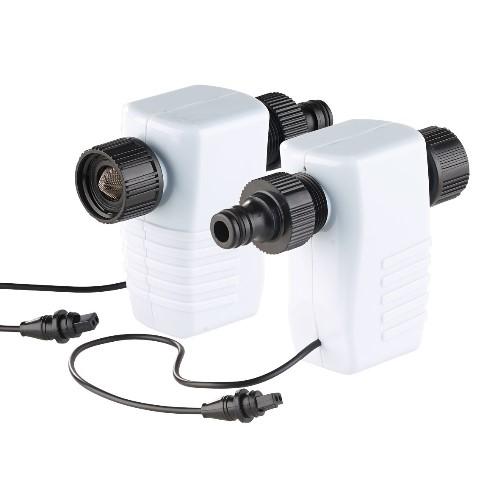 Valves magnétiques pour régulation de la pression d'eau sur tuyau d'arrosage.
