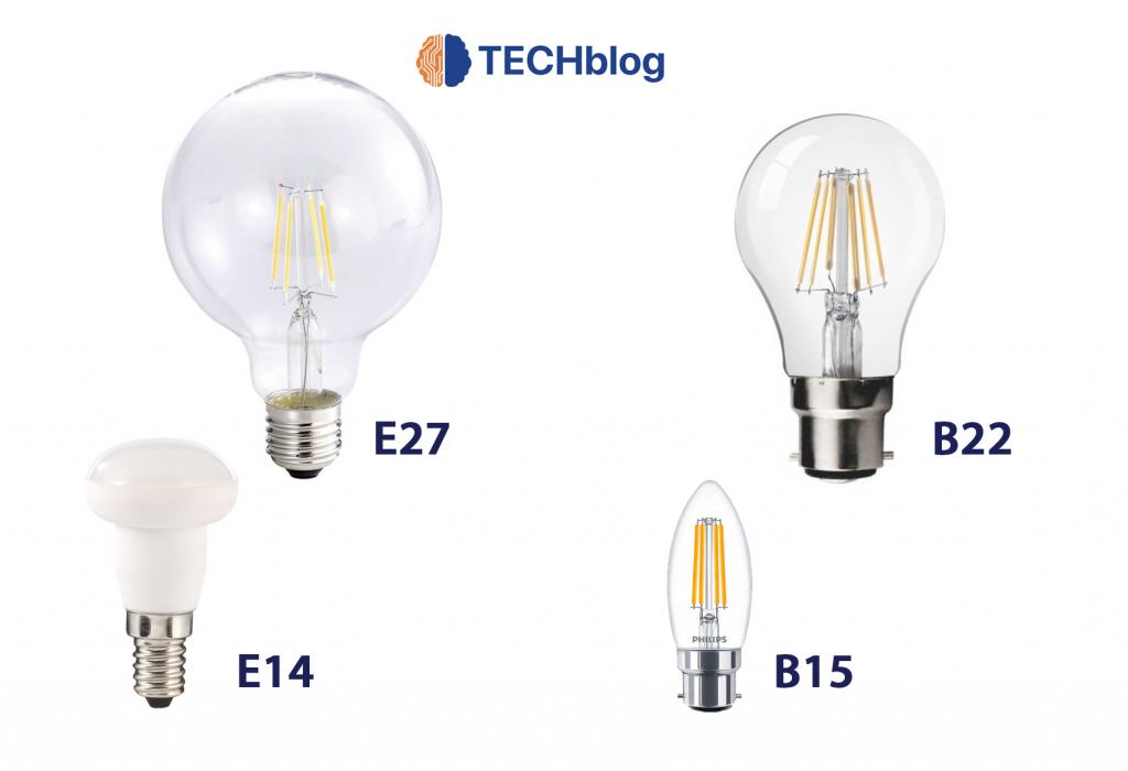 Voici les ampoules les plus courantes pour l'éclairage E27, E14, B22 et B15