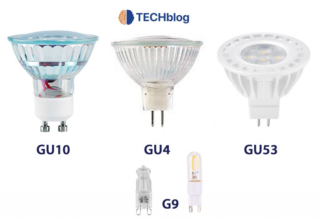 Voici les ampoules du type G et GU