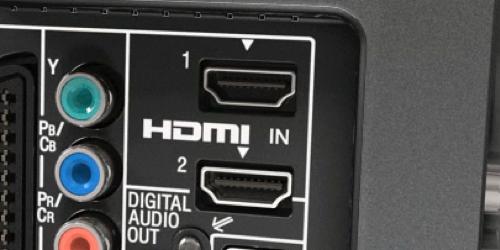 Entrées HDMI à l'arrière d'un écran de télévision.