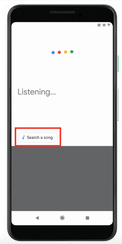 le bouton pour rechercher un son dans Hum to Search.