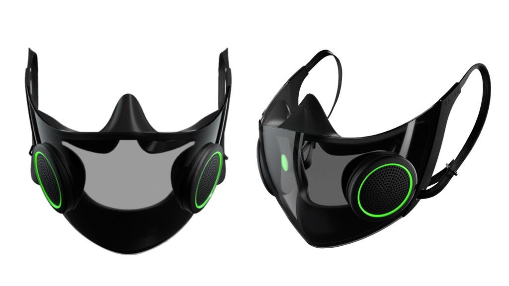Le masque de protection high-tech Hazel de la marque Razer.