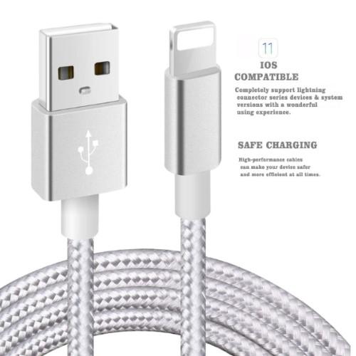 Un câble de chargement Lightning contrefait.