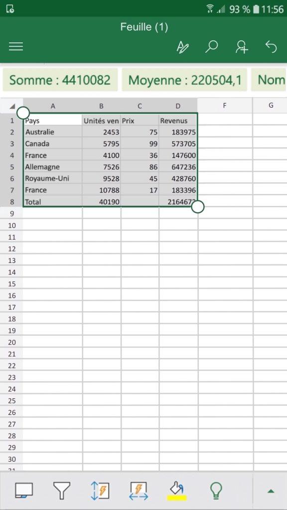 Convertir une image en tableur numérique éditable sur Excel.