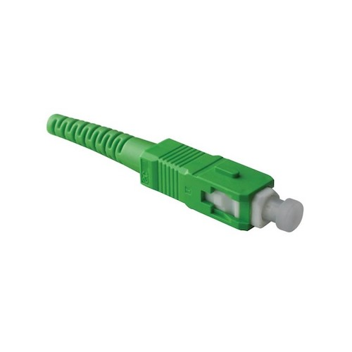 Exemple d'un connecteur optique SC.