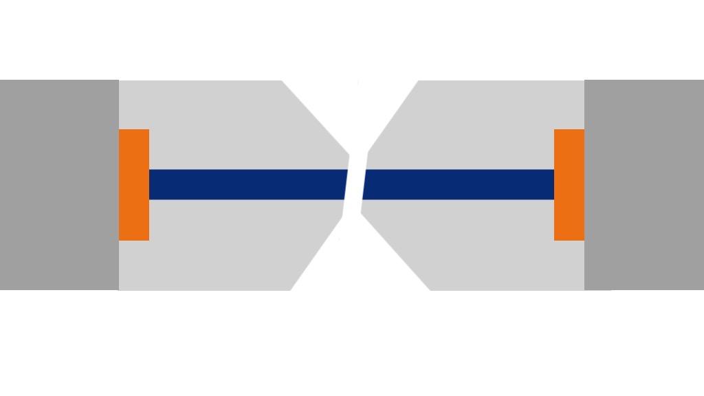 Le polissage APC d'un connecteur optique avec un angle de 8°.