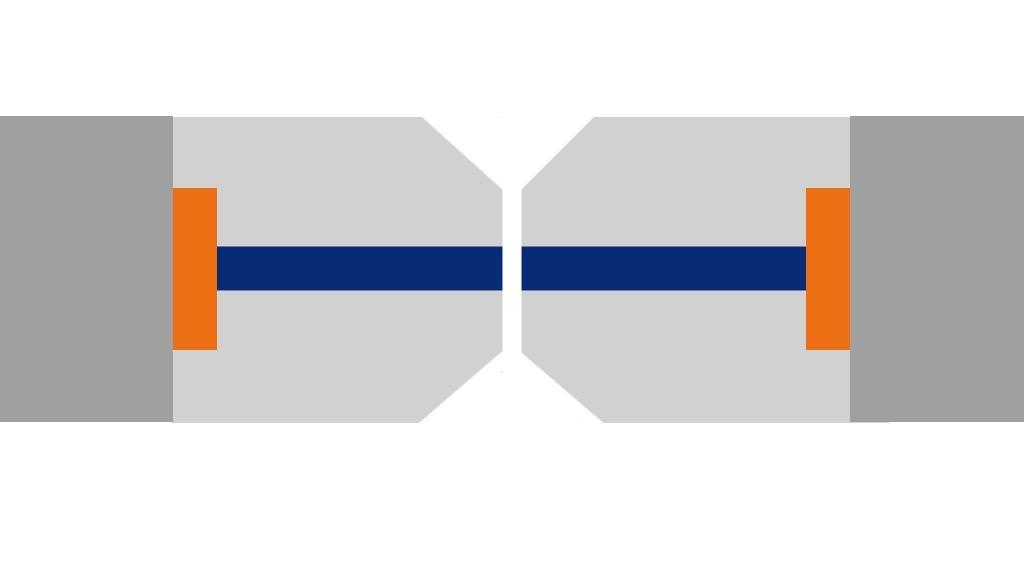 Représentation du polissage d'un connecteur optique Super PC.