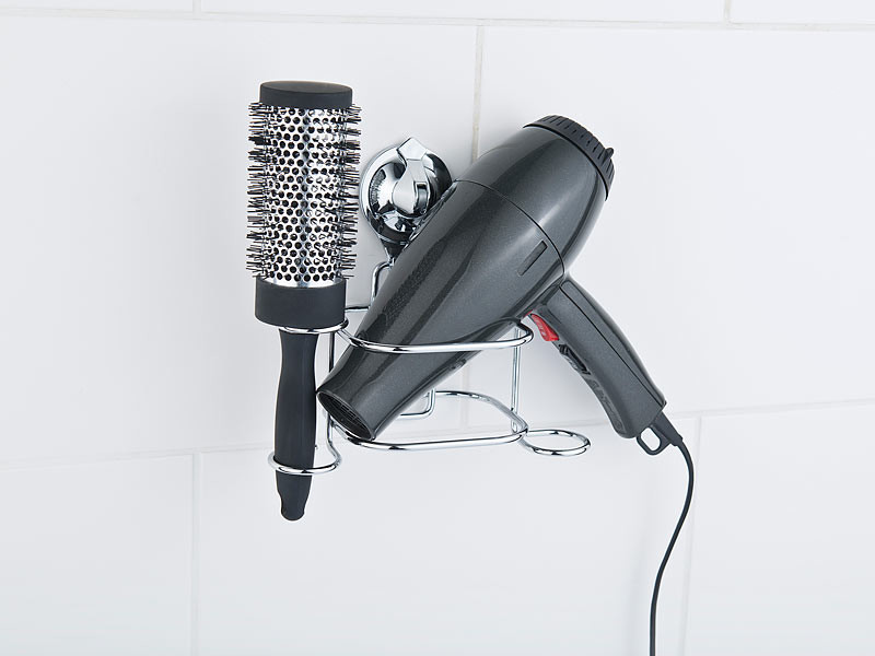 support à ventouse pour sèche-cheveux pour salle de bain