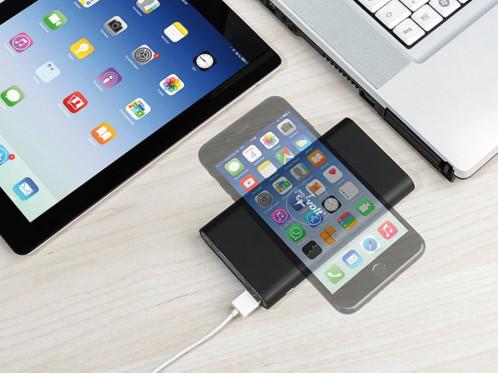 Batterie d'appoint USB compatible Qi