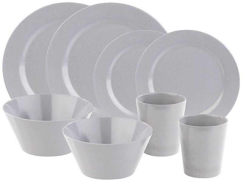 Kit de vaisselle en bambou, durable et écologique