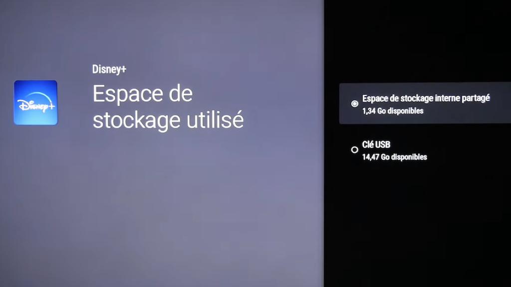 Comment déplacer une application de la mémoire interne de Chromecast vers un espace de stockage externe.