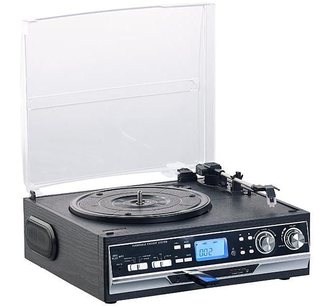 Tourne disque 6 W 4 en 1 : cadeau parfait pour votre papa amateur de musique
