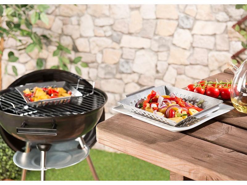 Barbecue vegetable basket