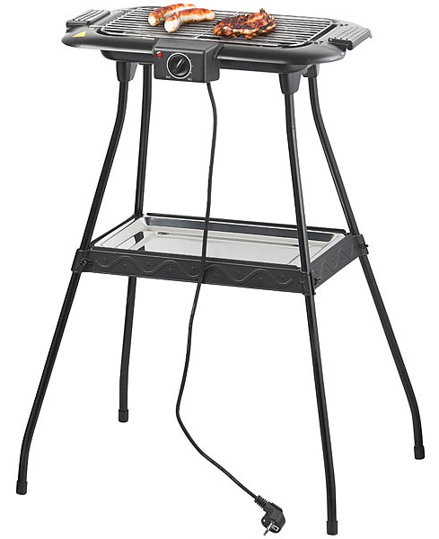 Pearl electric barbecue with removable tray