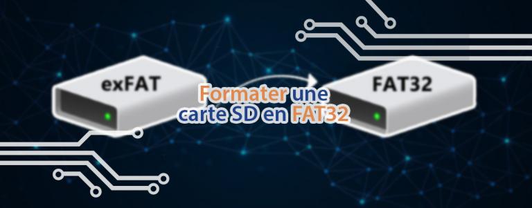 Tuto pour formater une carte SD en FAT32.