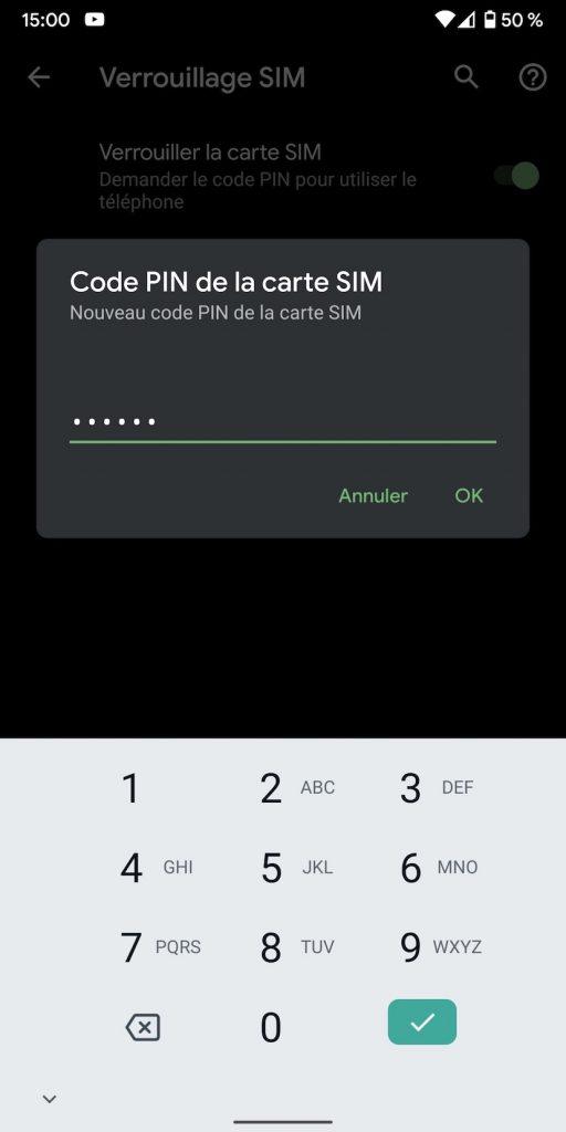 Modifier le code PIN de son smartphone Android.