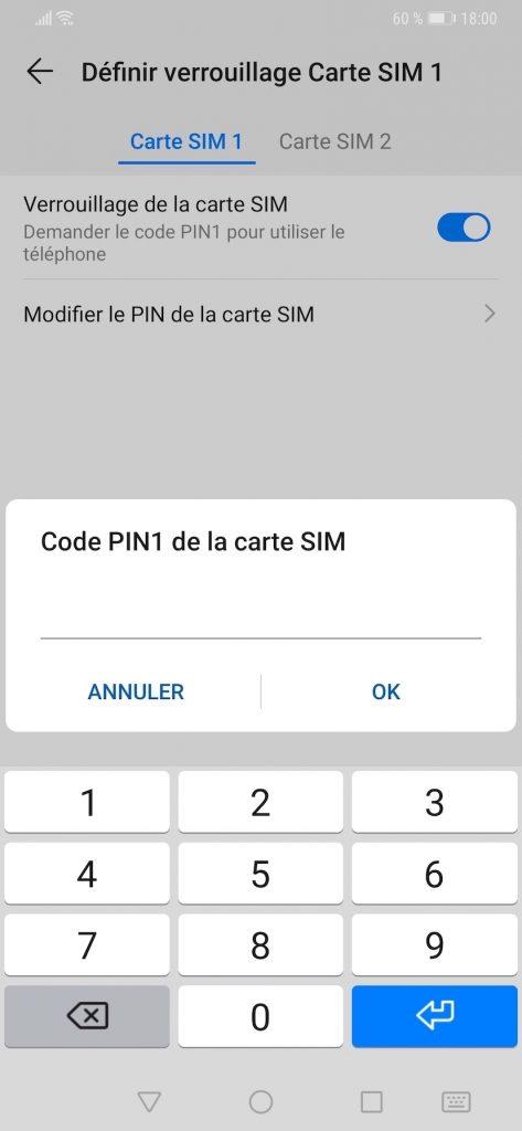 Modifier le code PIN d'un smartphone Huawei ou Honor.