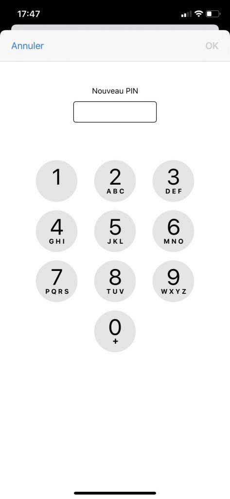 Changer le code PIN de son iPhone.